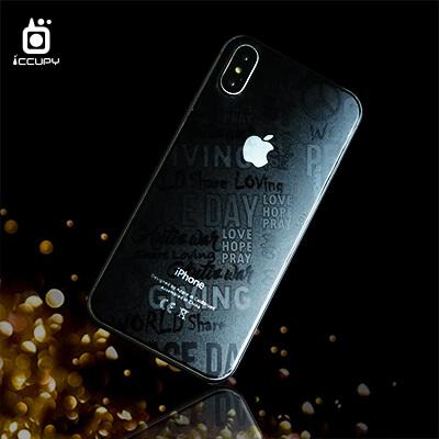 手機包膜-刁膜DiaoMore-經典壓紋膜手機背貼包膜-反戰標語圖案 1