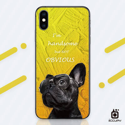 刁膜DiaoMore萌寵物語法國鬥牛犬手機包膜 1